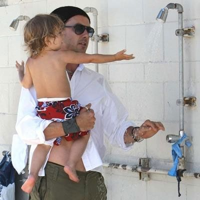 Gwen Stefani'nin eşi ve oğlu